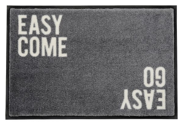 Fußmatte Gift C. WASHABLES 75x50, easy come easy go, grau