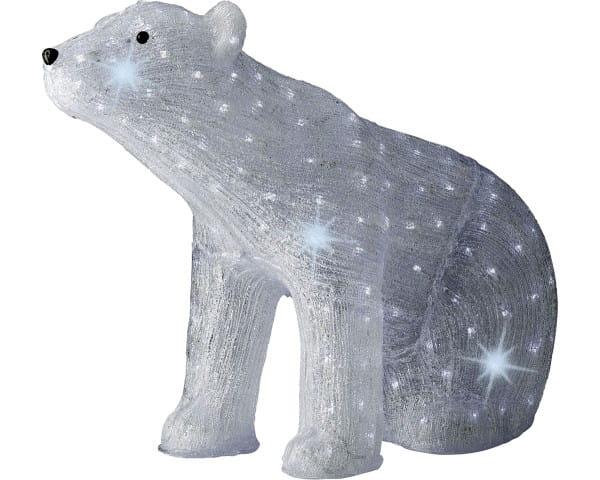 Weihnachten Kae LED Acryl Baer aussen, 83x35x61cm-200L Kaltweiß