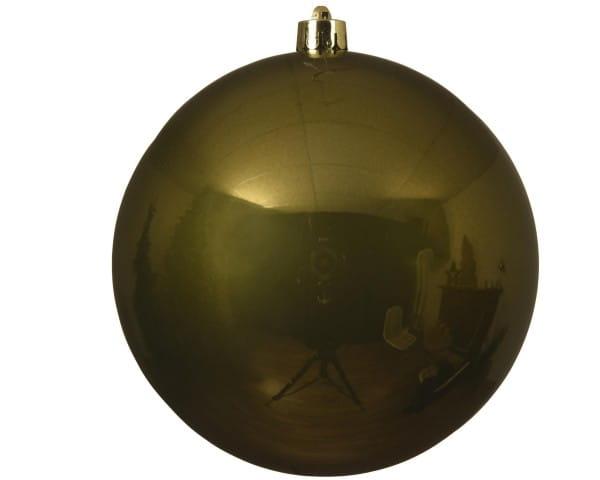 Weihnachten KUGEL bruchfest einzeln glanz moosgrün