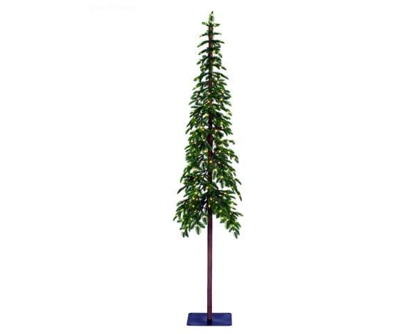 Weihnachten Kae ALPINE TREE beleuchtet, 180cm 150L grün / w-weiß
