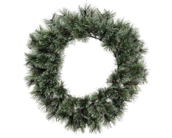 Weihnachten Kae KASCHMIR KRANZ, D63 grün