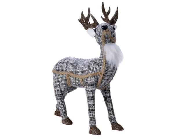 Weihnachten Kae PES Hirsch Glitter-Gewei, 12x20x33cm Blau m/andere Farbe(n