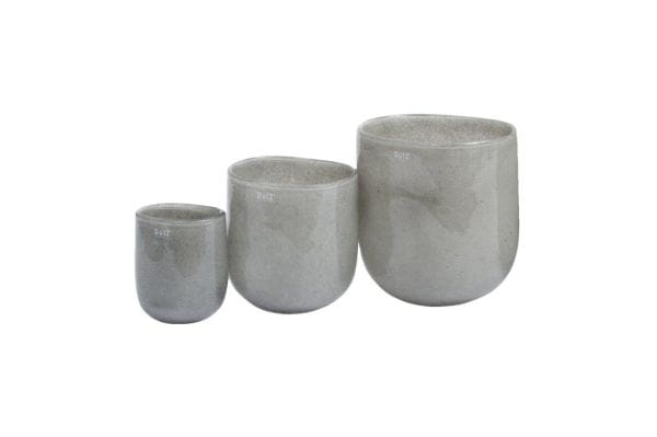DutZ Vase OVALL VASE, new grey H20 D21x16