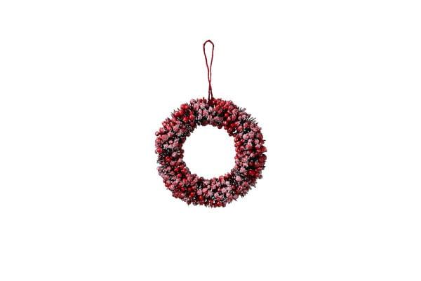 Weihnachten Gift ILEX Kranz, D30 rot