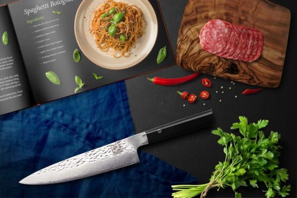 ZAYIKO Damastmesser Kuro, Chefmesser - Oleio