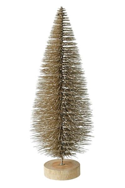 Weihnachten Gift SEOUL Dekobaum Glitzer, gold 15x40x15cm