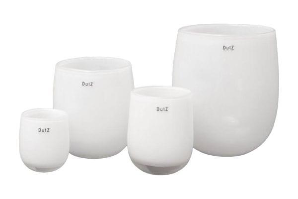 DutZ Vase BARREL md4 H32 D27 white