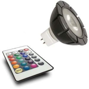 MR16 RGB Power LED 12V 3W + Fernbedienung