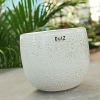 DutZ Schale BOWL THICK GLASS, white bubbles