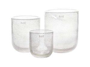 DutZ VASE, clear bubbles