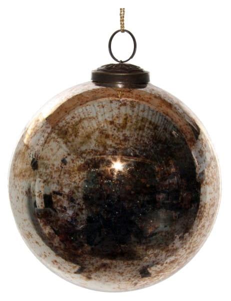 ShiShi GLASKUGEL, antik-gold 13cm