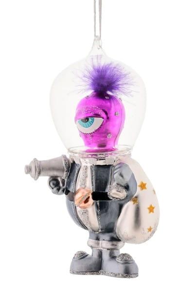 Weihnachten Gift SPACE Hänger, Alien m. Glashelm mehrfarbig