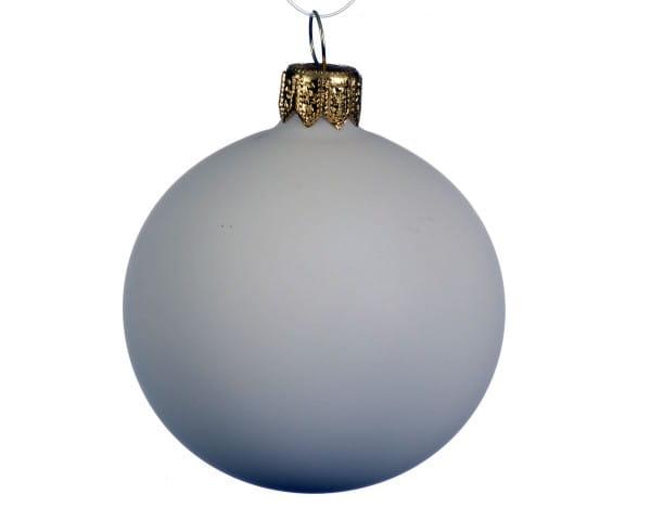 Weihnachten Kae KUGEL UNI wollweiss, D8 matt