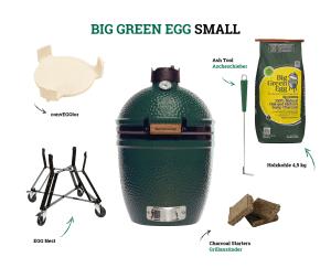 Starterset SMALL EGG Holzkohlegrill - Big Green Egg