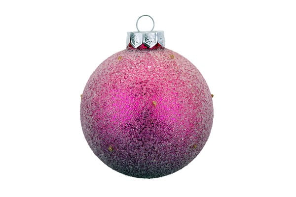 Weihnachten Gift CHRISTBAUMKUGEL, m. Perlen fuchsia