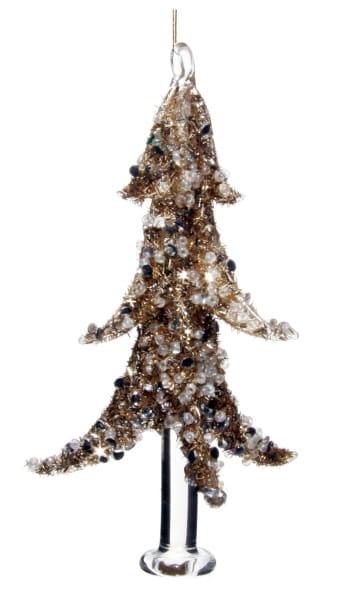ShiShi GLASBAUM Goldflitter, m/ klarem Edelstein 12cm