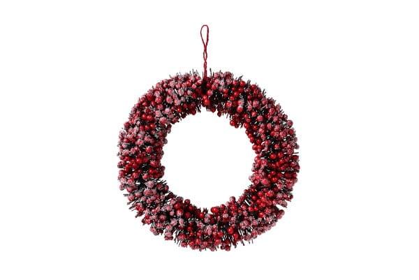 Weihnachten Gift ILEX Kranz, D50 rot