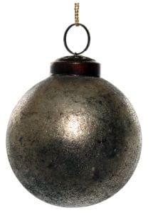 ShiShi GLASKUGEL, gealtertes Silber 7cm