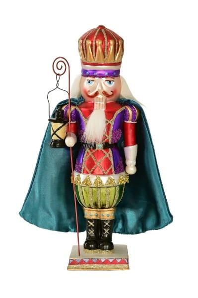 Weihnachten Gift NUSSKNACKER, mit Umhang blau/rot