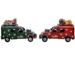 Weihnachten Kae Eisen-Auto Geschenke 2f., 6.5x16.5x10.5cm assorted