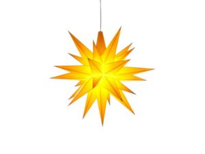 Herrnhuter Stern LED A1e - ø 13cm / Kunststoff - gelb
