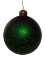ShiShi GLASKUGEL, antik matt dk grün 8cm