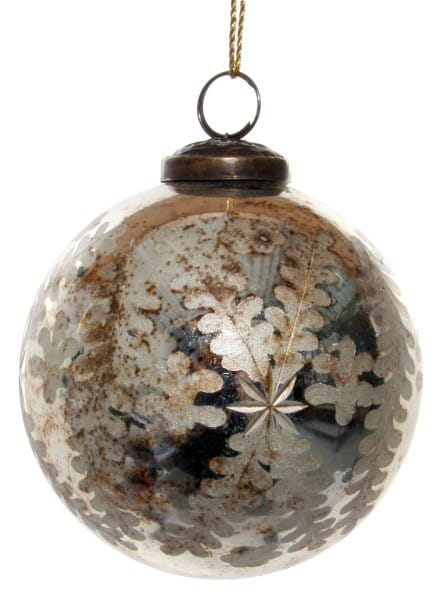ShiShi GLASKUGEL, antik-goldener Farnschliff 10cm