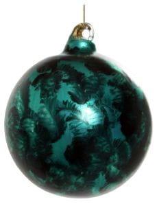 ShiShi GLASKUGEL, matt grün blau 8cm