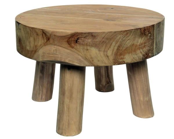 Tisch Kae Teaktisch schwere Platte, dia55x40cm natural