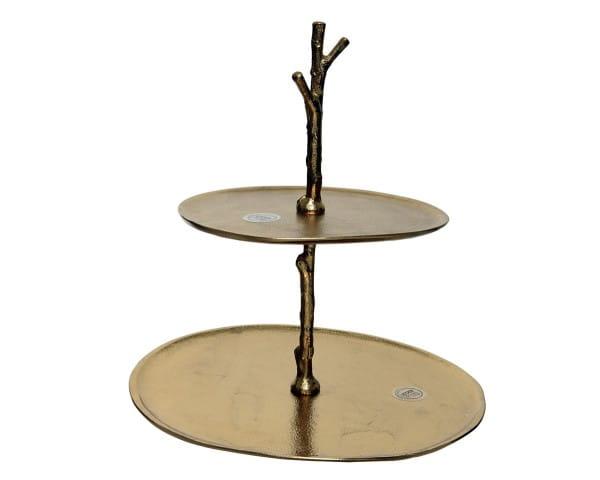 Etagere Kae Alu Etagere 2lagig, 18.5x38x1cm Gold