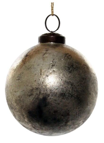 ShiShi GLASKUGEL, gealtertes Silber 10cm