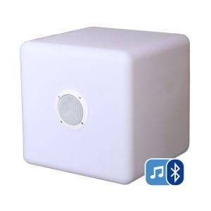 Dekorative Lampe Cube Smooz mit Lautsprecher
