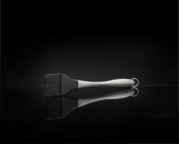 "PRO Edelstahl Pinsel mit Silikonborsten 11,5"""