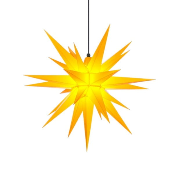Herrnhuter Stern A7 - ca. 68 cm / Plastik - gelb
