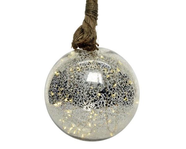 Weihnachten Kae Micro LED Kugel/Seil Bat, dia10cm-15L warmes weiss