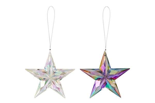Weihnachten Gift CIEL COLORÉ Hänger, D11 Stern 2fach-sort. iris
