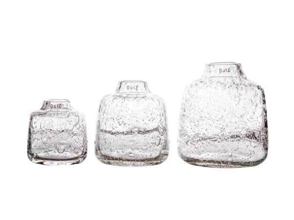DutZ Vase TISZA clear bubbles