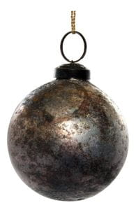 ShiShi GLASKUGEL, Silber Kupfer oxidiert 7cm