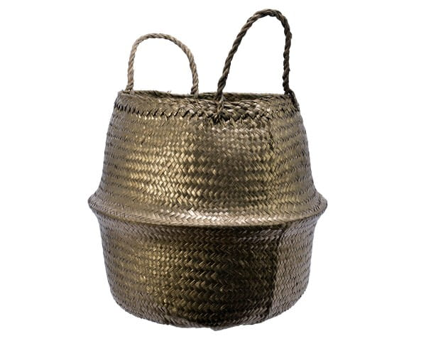 Korb Kae Seegraskorb, dia25x32cm Gold