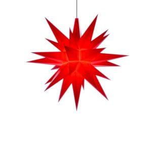 Herrnhuter LED Stern A1e - ø 13cm / Kunststoff - rot