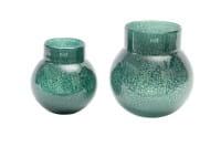 Vase Dutz BREB VASE darkgreen bubbles