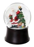 ShiShi GLAS-WASSERKUGEL, Santa brauner Sockel d10cm