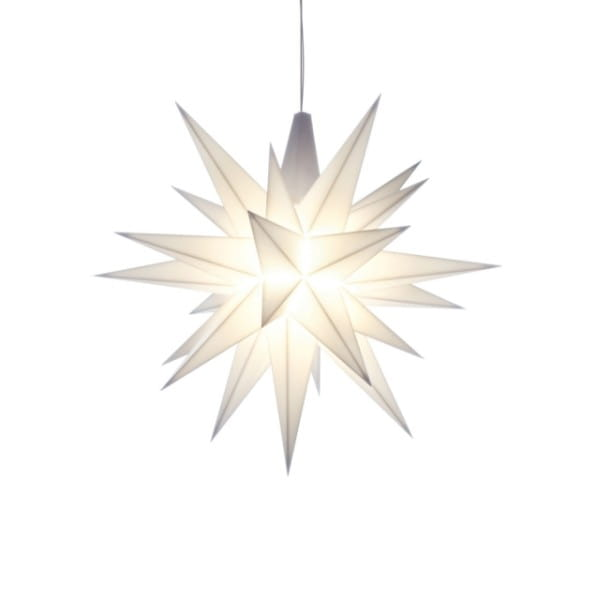 Herrnhuter Stern LED A1e - ca. 13cm / Kunststoff - weiß