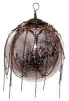 ShiShi GLASKUGEL, mit Kette antik-rosa 12cm