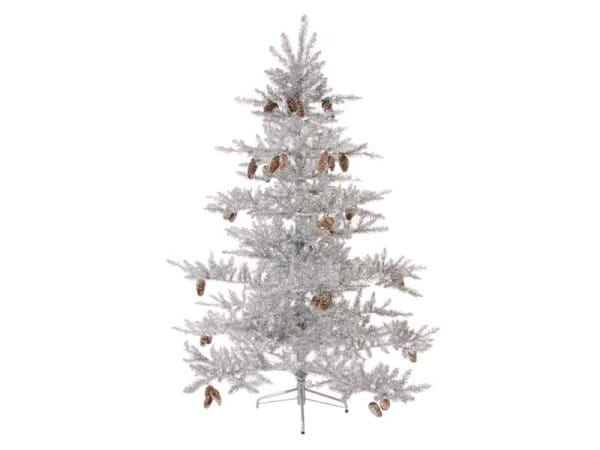 ShiShi Weihnachtsbaum SILVER TREE GOLD CONES 180cm