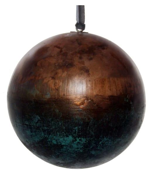 ShiShi METALLKUGEL, kupfergrün 12cm