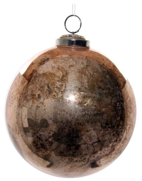 ShiShi GLASKUGEL, antik rosa gold rustikal 12cm