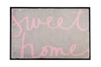 Fußmatte beige / rosa 'Sweet Home' 75x50cm
