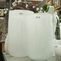 DutZ Vase THICK GLASS, white bubbles H32 Ø18