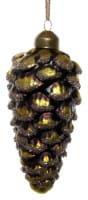 ShiShi GLASZAPFEN, altgold-grün m/Glitter 12cm